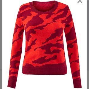 Cabi camo sweater